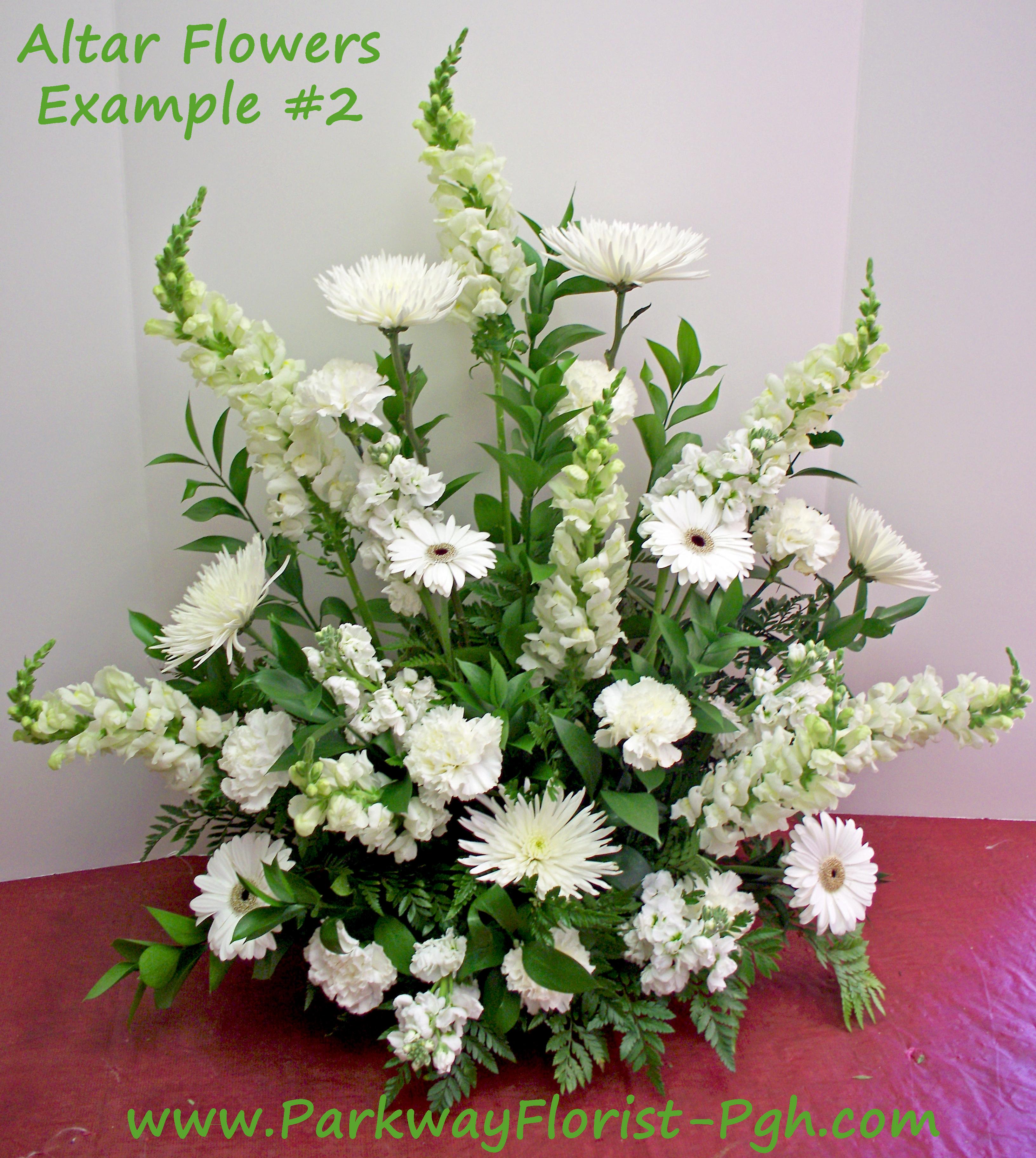 Main Altar Wedding Flowers: Parkway Florist Pittsburgh Blog