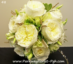 "David Austin Garden Rose Wedding Bouquet (Variety is ""Patience"")"
