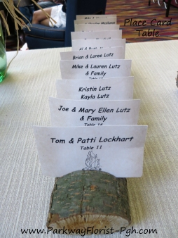 PlaceCard Table Log Idea