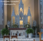 Immaculate Conception Altar Flowers Washington Pa