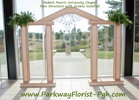 Robert Morris Chapel Structure with Greens installed