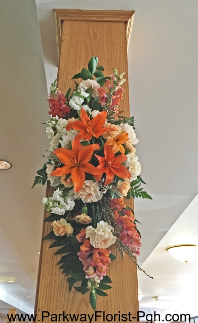 Church Column Flowers