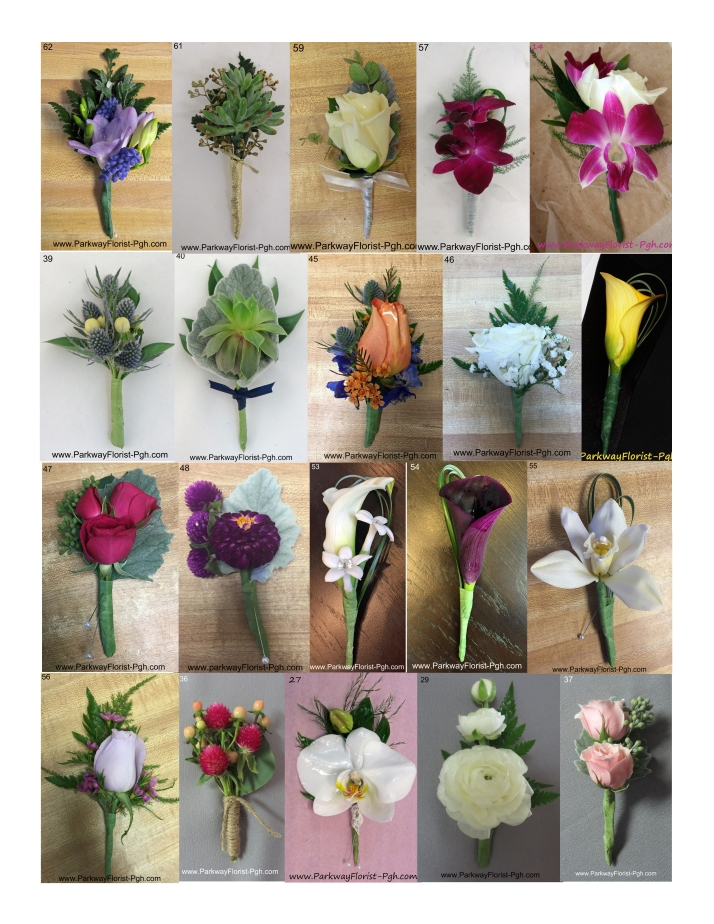 Parkway Florist Pittsburgh Boutonnieres Wedding Prom Homecoming.jpg