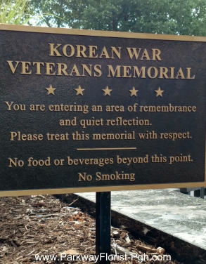 Korean War Memorial Sign