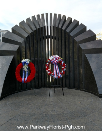 Korean War Memorial with Wreath 2017