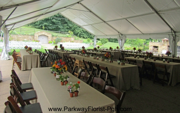 Pittsburgh Botanic Garden Reception in Tent