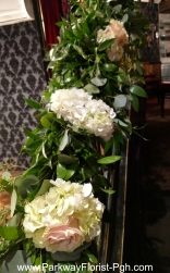 Butcher and the Rye - Garland with Roses & Hydrangea 1