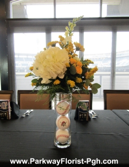 A Pirate's Baseball centerpiece in action!