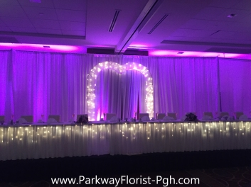 Sheraton Brass Arch Head Table