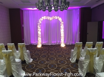 Sheraton Brass Arch Indoor Ceremony