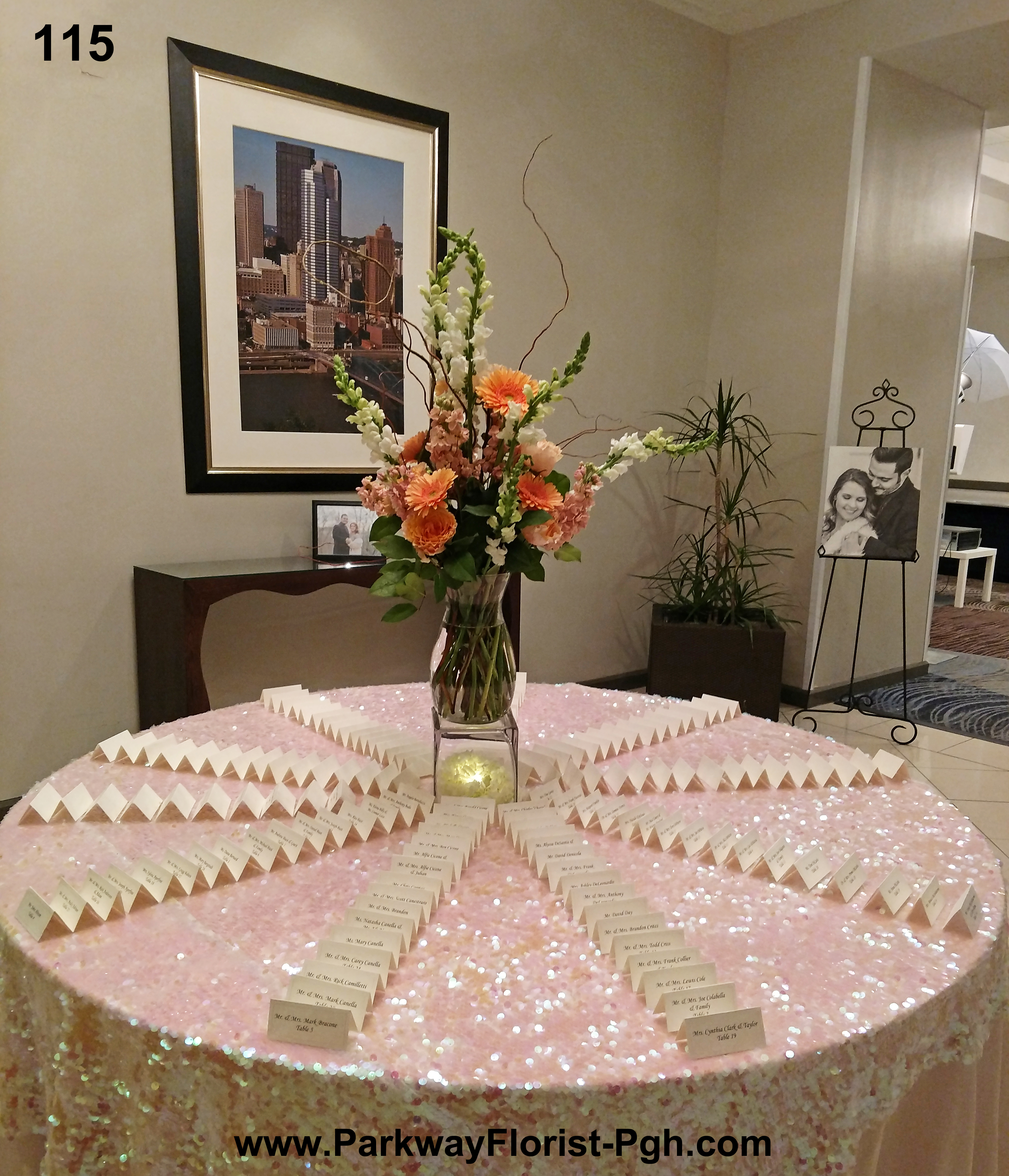 placecard table 115